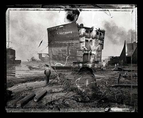 Edward Burtynsky, Shipbreaking #24, Field Proof, Chittagong, Bangladesh, 2000. From Pentimento, a portfolio of 10 chromogenic color prints, 2010. © Edward Burtynsky. Faulconer Gallery, Grinnell College Art Collection.