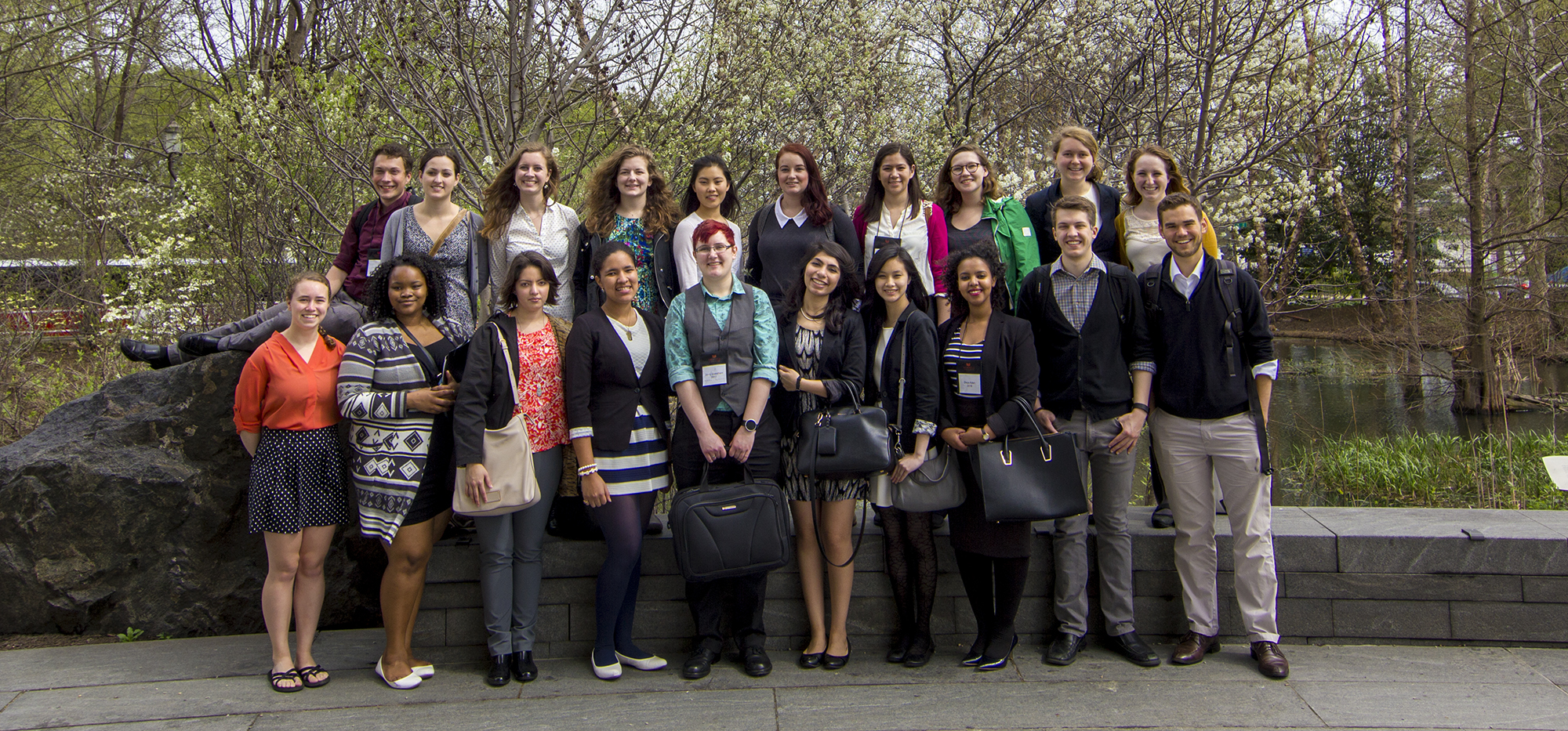 Grinnell students, faculty, and staff on Rosenfield Program DC tour