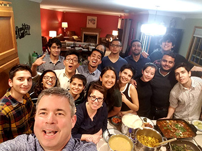 15 international students are welcomed into a local home