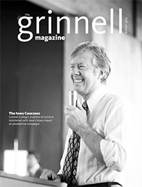 The Grinnell Magazine Winter 2015 cover w/ President Jimmy Carter