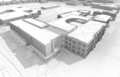 Rendering of proposed humanities and social studies complex