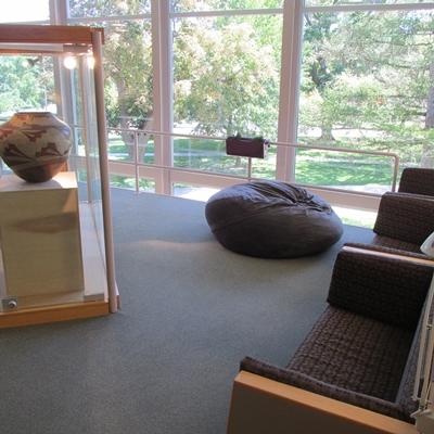 Leggett Study Terrace in Burling Library