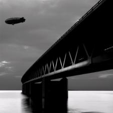 Fie Johansen, Oresund Bridge and Goodyear Blimp, 2002  Photographer:  © 2002 Fie Johansen
