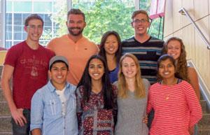 Ashley Kang and other REU program students