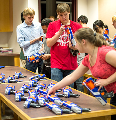 Students gear up for Nerf at Noyce