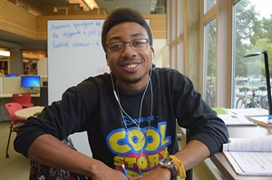 Grinnell College senior and winner of the Nick Adams Short Story Contest, Nelson Ogbuagu