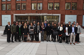 Grinnell students at the Stern School of Business