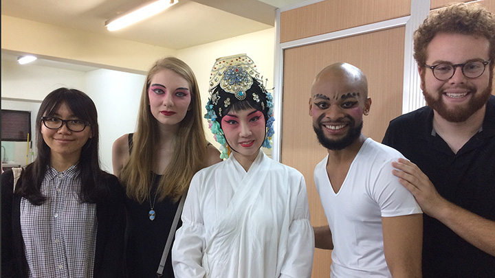 4 student performers in makeup