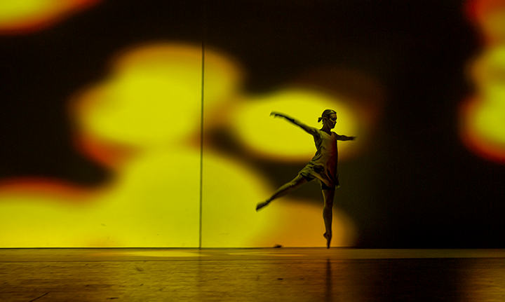 "Ana Novak '14 dancing in ""Illuminate"""