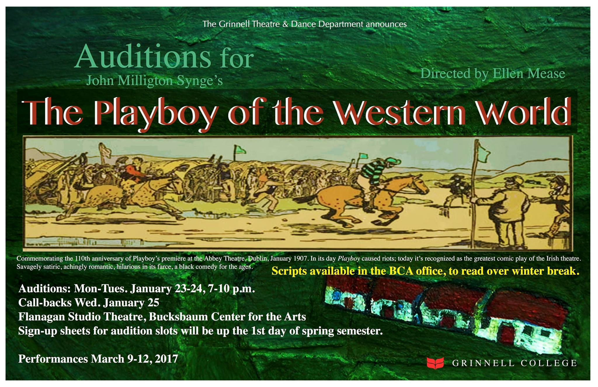 Playboy of the Western World Auditions