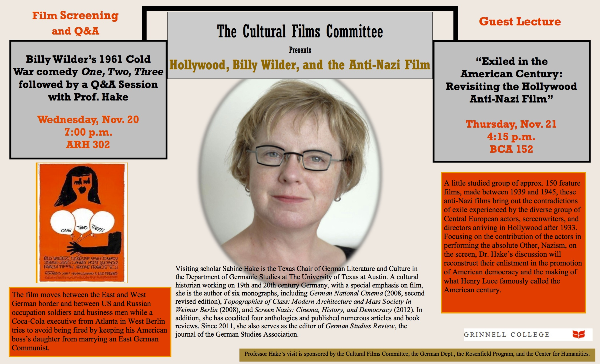 The Cultural Films Committee presents Hollywood, Billy Wilder, and the Anti-Nazi Film