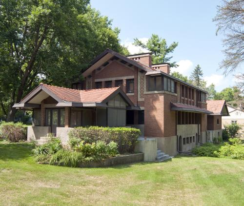 Benjamin J. and Mabel T. Ricker House, Grinnell College, 2011. South and east façades.