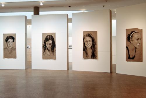 Installation view, 2011 Student Art Salon, showing work by Hannah Fiske '14.