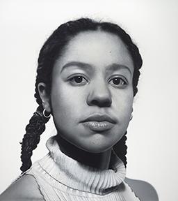 Portrait of Tau Lewis by Charles Bierk, oil on canvas, 2017