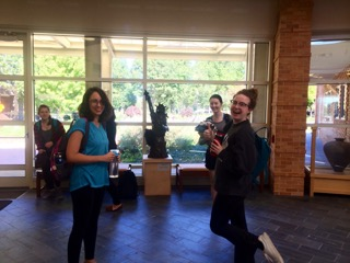 Fresh Flutes students in the Rotunda after performance