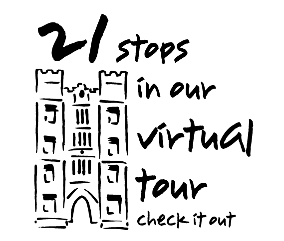 Text: 21 stops in our virtual tour - check it out