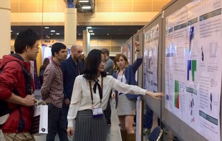 Yue Yu and Jill Rix Yue Yu and Jill Rix presenting the published work at the national meeting of the American Physical Society, March 2017