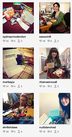 Thank you photos on Instagram