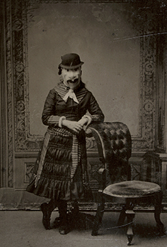 Anonymous photograph, Woman in Mask, circa 1880