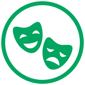 masks of comedy and tragedy icon