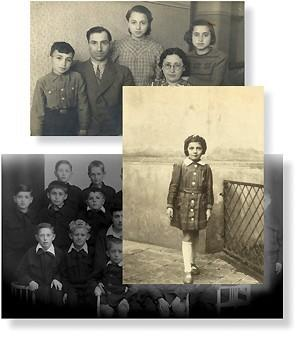 Holocaust survivors with their families