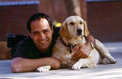 Sanjay Khanna '85 and dog