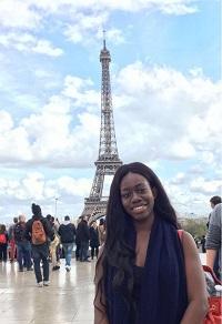 Mama Biamah in Paris is Grinnell College Global Envoy