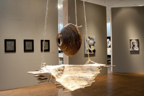 Student Art Salon 2012, installation view, showing Nest by Mona Porter '12