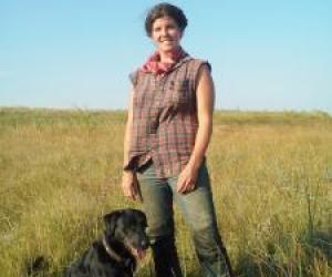 Elizabeth Hill and her dog