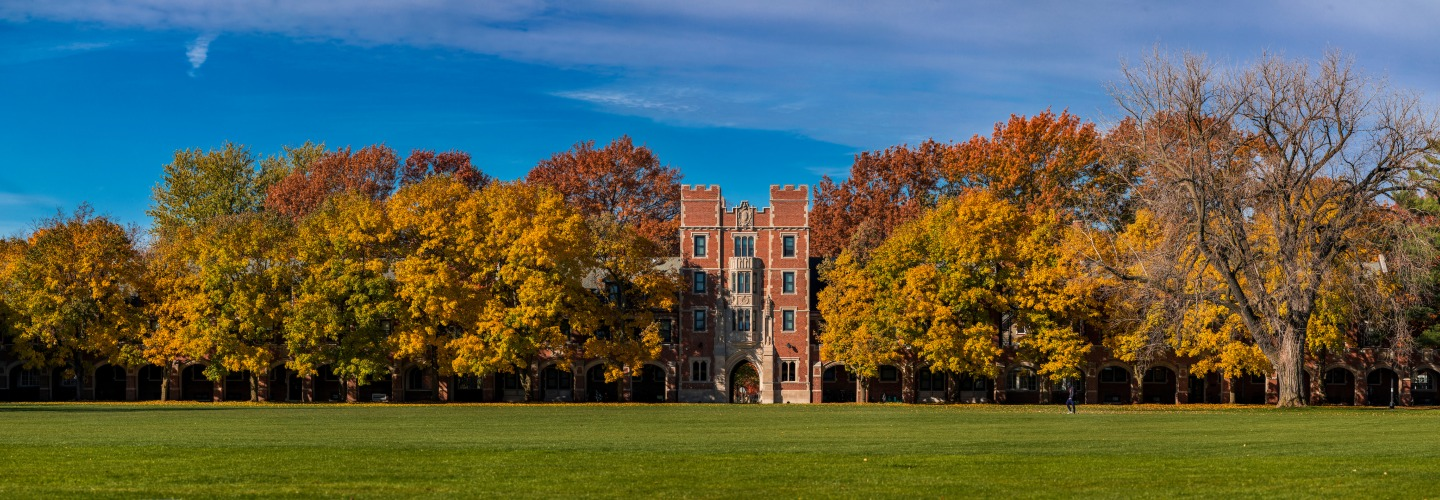 North Campus with trees in fall color