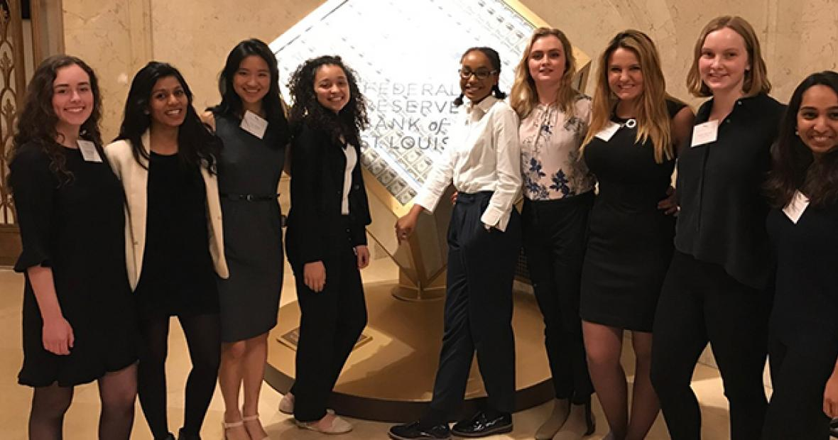 Grinnellians at Women in Economics Symposium 2018