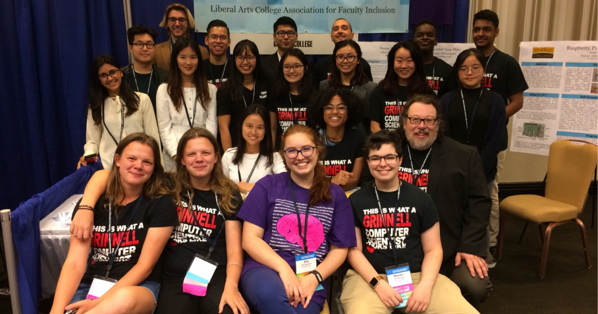 Group Picture of the students attending Tapia Conference in 2017