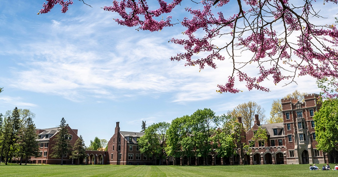 View of North Campus in spring