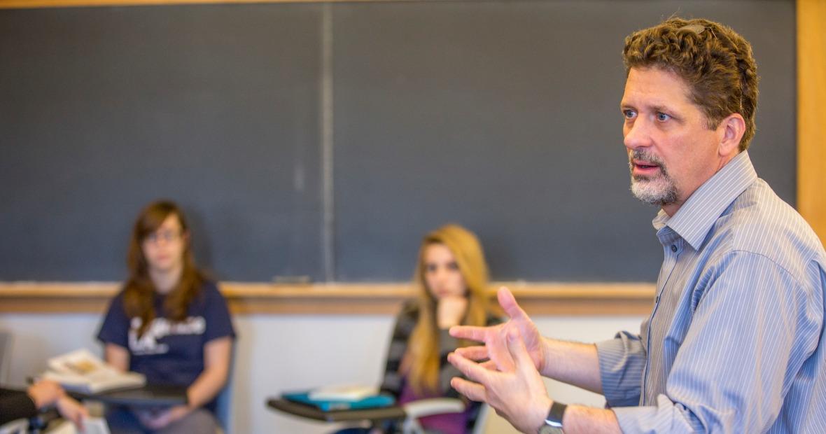 Tyler Roberts teaching a class