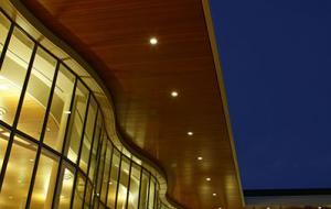 Joe Rosenfield '25 Center Courtyard at night