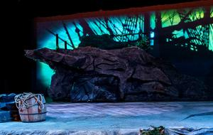 Roberts Theatre dressed for the Tempest, 2016