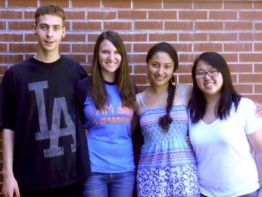 Fall 2014 Spanish SEPC members, left to right: Isaac Cannon Walker, Athena Carlson, Adriana Zenteno, Prisca Kim.