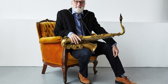 Alex Dean with tenor saxophone