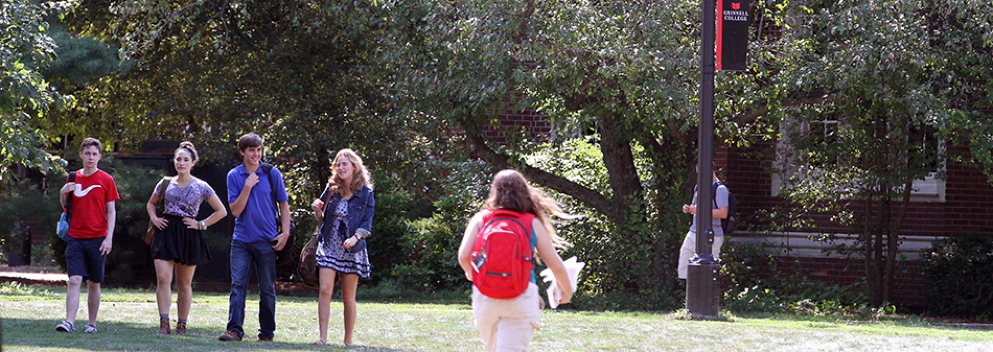 Walking Through Campus