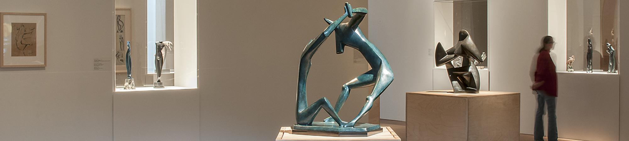 View of Archipenko traveling exhibition in Faulconer Gallery