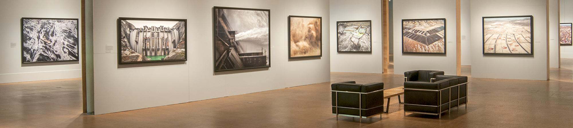 Installation of Edward Burtynsky: Water, on view summer 2014