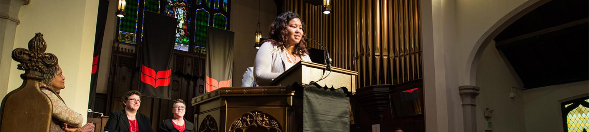 Kiah Williams delivers Grinnell Prize speech