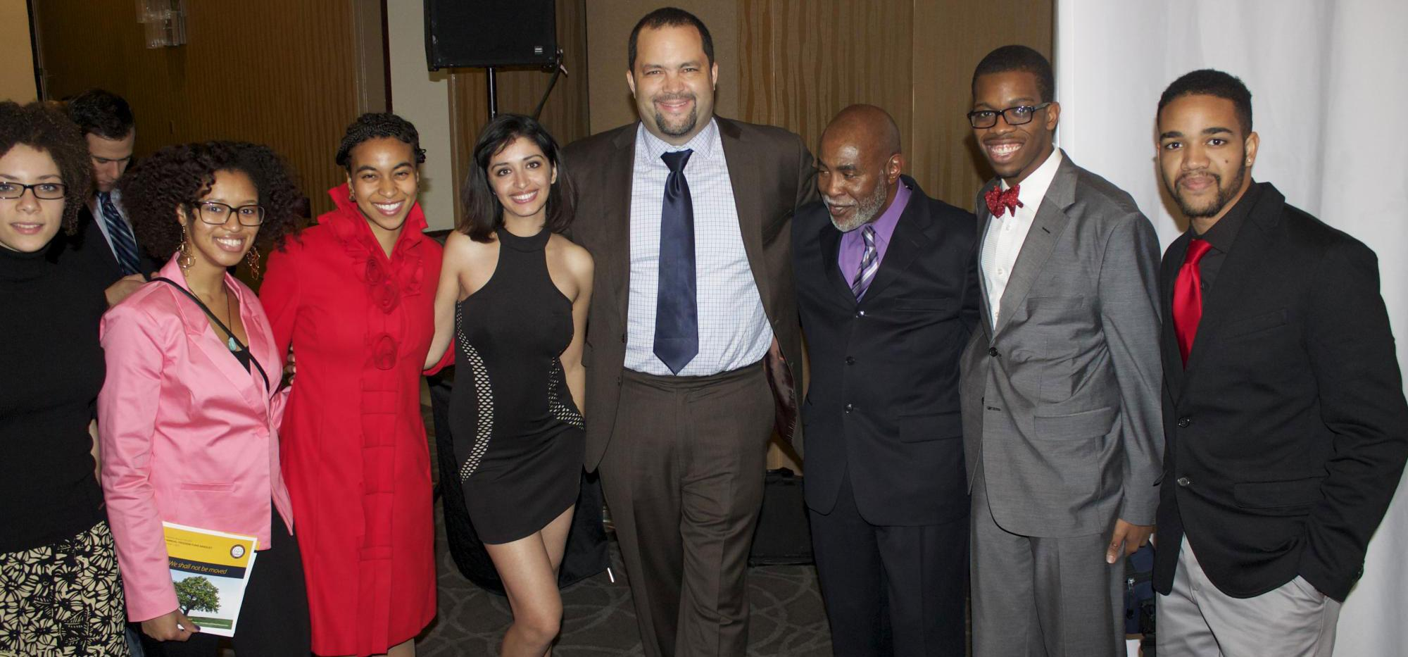 Brigid Carmichael, Alexis Hudson, Brittney Silver, Nilob Nahib, Benjamin Todd Jealous (the president of NAACP ), Arnold Woods, Gregory Hinton, Jacob Washington.