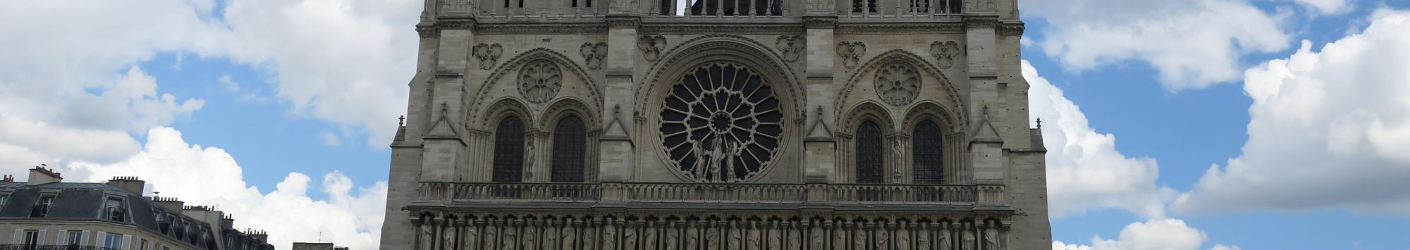 banner image of cathedral in Paris, France