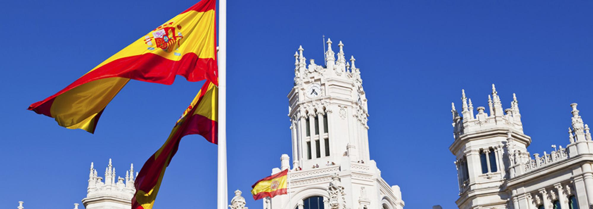 Spanish flags and architecture