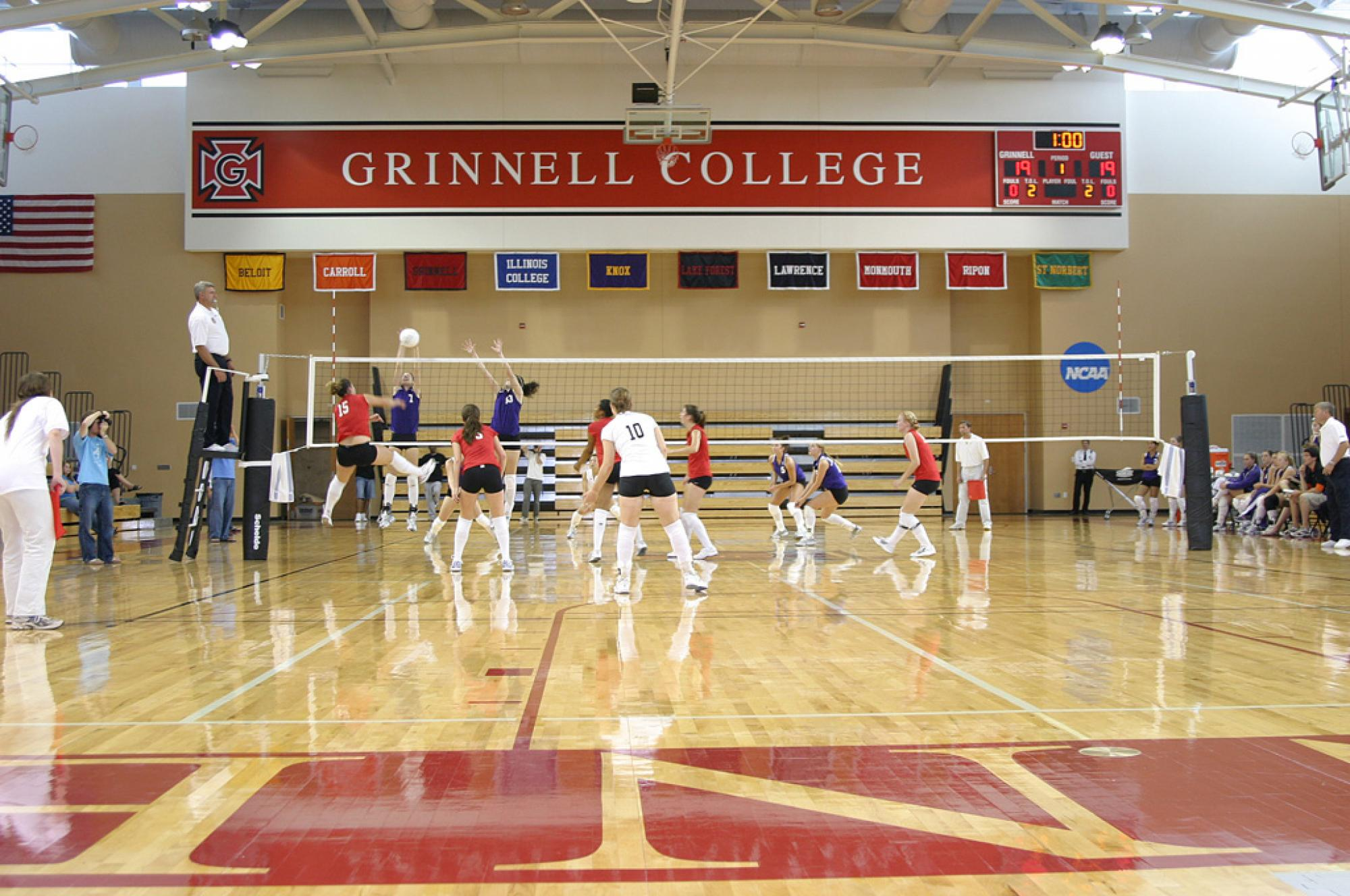 Volleyball game in the gymnasium of the Athletic and Fitness Center