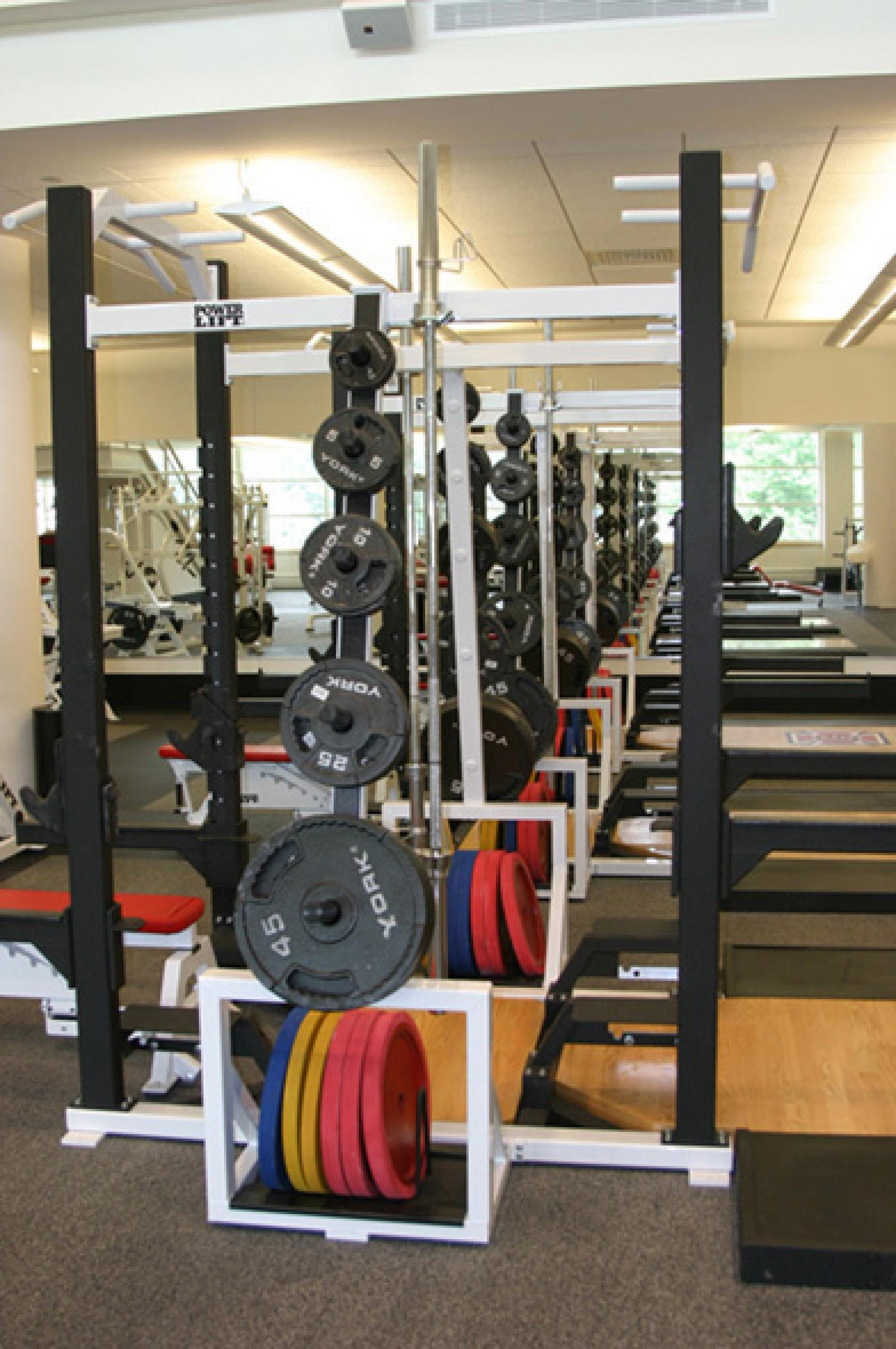 Power lift and weight areas of the Fitness Center