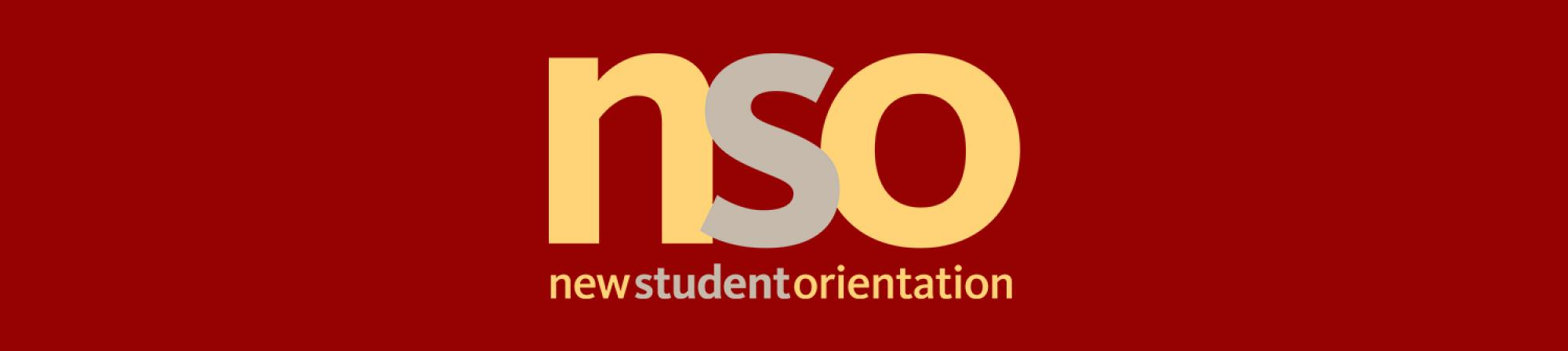 nso logo with a maroon background