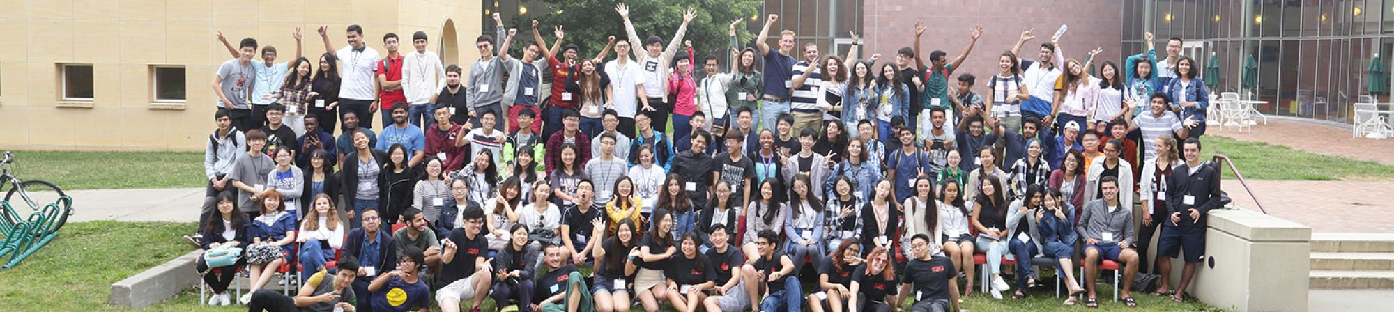 group photo of international students
