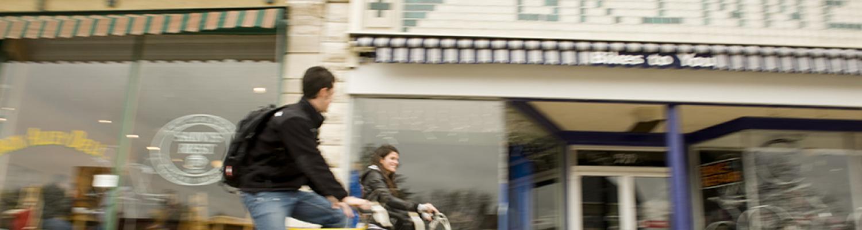 Biking on Broad Street